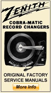 Vintage Record Changer and Record Cutter Service Manuals and Schematics